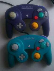 ゲームキューブ コントローラー エメラルド バイオレット&クリア/GC Wii switch スイッチ Wiiu