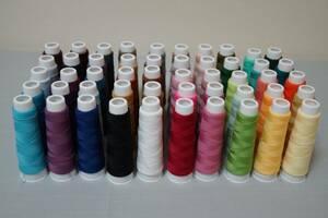 ウーリーミシン糸50色セット*巻きロック/かがり縫い/JUKI/シンガー/ベビーロック