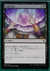 MTG マジック・ザ・ギャザリング 永遠の若さ Foil (コモン) エルドレインの王権 日本語版 1枚 同梱可