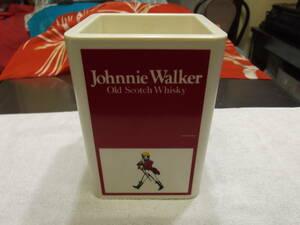 古い時代のジョニーウォーカーアイスペール、アイスペール、珍品、オールドスコッチウイスキー、樹脂製、昭和レトロ、レトロ雑貨、