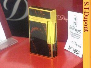【 激レア 新品未使用品 】S.T.Dupont ベルトダークブラウン&ブラウン ライン2 ガスライター◆デュポン 葉巻!たばこ喫煙具グッズ