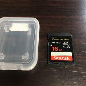 ①SanDisk Extreme PRO SDHCカード UHS-I Class10 16GB 95MB サンディスク エクストリーム プロ