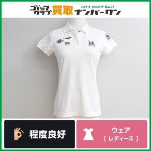 【程度良好 正規品】マスターバニーエディション レディース ポロシャツ ホワイト サイズ0 Sサイズ 女性用 品番159-260721 パーリーゲイツ