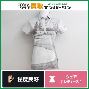 【程度良好 正規品】マスターバニーエディション レディース ポロシャツ グレー サイズ0 Sサイズ 女性用 品番159-160630 パーリーゲイツ