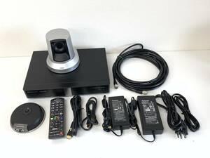 【2103090500-1】PANASONICビデオカイギシステム KX-VC1300J カメラ(GP-VD131J) マイク(KX-VCA001)/出力対応解像度:1920×1080i.