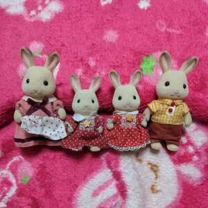 シルバニアファミリー ショコラウサギ ファミリー 人形 セット