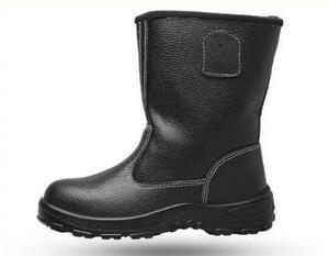 新品 釘踏み抜き防止 本革 ワーク シューズ 安全靴 鋼鉄先芯 防滑 作業ブーツ 黑色 サイズ 25.5cm