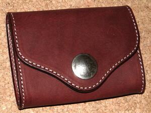 新品 ファニー FUNNY 高級 サドルレザー製 コンチョ付き コインケース 小銭入れ (BR/茶) 小型財布 カードケース ブライドルレザー 本革