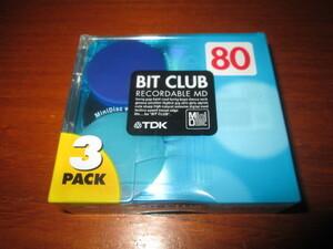 MDミニディスク TDK BIT CLUB 型番:MD-BC80BAX3N