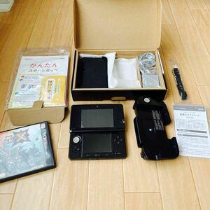 NINTENDO 3DS コスモブラック 本体 拡張スライドパッド モンスターハンタークロス 任天堂3DS
