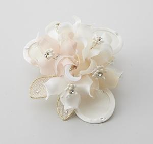 日本製 コサージュ 卒業式 入学式 入園式 結婚式 ブローチ お花 立体 フラワー ストーン ビーズ使い フォーマル 301-94