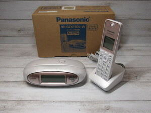 [中古]Panasonic パナソニック デジタルコードレス電話機 VE-GZX11DL-W 子機2点セット