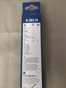 BMW ビーエムダブリュー F31 3シリーズ ツーリング 2012~ <リア ワイパーブレード> 280MM 「BOSCH」 A281H 3397008045