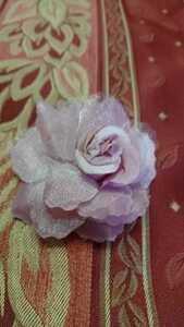 ★バラ ピンク ★髪飾り★コサージュ 入学式 卒業式 結婚式★8cm 8,5cm 3,5cm キラキラ ヘアーアクセサリー★ヘアゴム
