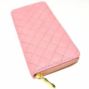 長財布 ラウンドファスナー長財布 メンズ財布 レディース 財布 誕生日 プレゼント SALE ピンク
