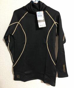 作業着 長袖 コンプレッションシャツ 裏起毛 新品タグ付き メンズ ハイネック Lサイズ 秋冬 スポーツウェア アウトドア