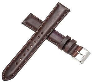 EMPIRE LISTER(リスター) Horween Chromexcel ホーウィン クロムエクセル レザー 腕時計 ベルト 18mm ダークブラウン