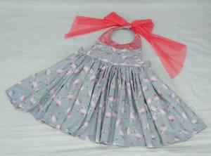 MARL MARL Maar Maar . meal apron apron baby's bib baby Kids gray pink flamingo