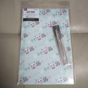 白猫 しろねこ シロネコ 猫 ねこ ネコ ギフトバッグ ラッピング紙 包装紙 包装用 封筒 ラッピング用 プレゼント用 お菓子入れ 新品 グッズ