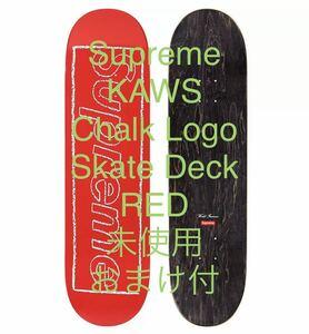 ☆☆Supreme KAWS Chalk Logo Skateboard RED シュプリーム カウズ スケートボード デッキ 未使用 赤☆☆