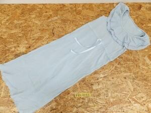 〈レターパック発送〉PEACH JOHN ピーチジョン レディース 襟フリル 部屋着 ワンピース ONE SIZE 水色