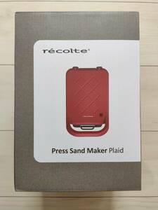 新品未使用 recolte レコルト プレスサンドメーカー プラッド RPS-2(R) マットレッド