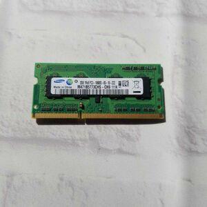 w4.5 ノートPC用メモリ SAMSUNG 2GB 1R×8 PC3-10600S DDR3 動作品