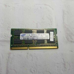 w24.13 ノートPC用メモリ SAMSUNG 2GB 2R×8 PC3-8500S DDR3 動作品