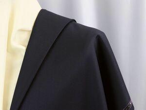 ■英国「マーティンソン社製」FINESTウールの生地・超定番濃紺の綾織り無地・心地良さと耐久性を兼ね備えた逸品・長さ3.2M