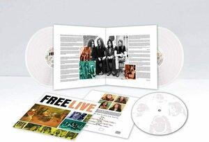 Free フリー - Live 手書き番号入り限定二枚組ホワイト・カラー・アナログ・レコード