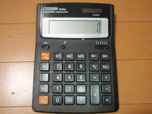 Cal-Citizen-1 CITIZEN製ソーラー双電源デスクトップ型電卓(12桁表示) DM6004