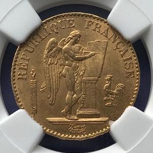 ★【人気】1875A フランス 20フラン金貨 ラッキーエンゼル NGC MS63