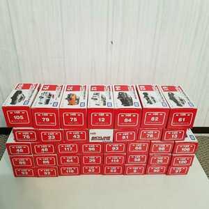 【未使用品】タカラトミー トミカ 50周年記念スカイライン後期・NSX-R・GT-R・救急車・スポーツカー等 38台セット