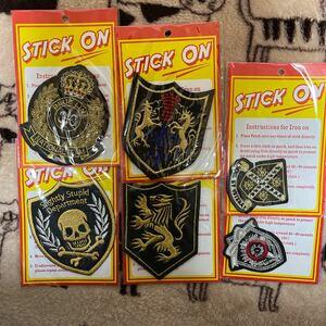 アイロンワッペン 刺繍ワッペン 紋章 6枚セット