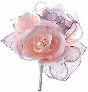 ライトピンク 日本製コサージュ サテン薔薇パール294 入学式 入園式 卒業式 卒園式