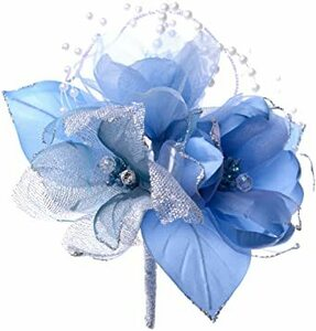 ブルー 日本製コサージュ サテンパール芙蓉291 入学式 入園式 卒業式 卒園式