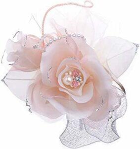 ピンク 日本製コサージュ サテン薔薇パール294 入学式 入園式 卒業式 卒園式