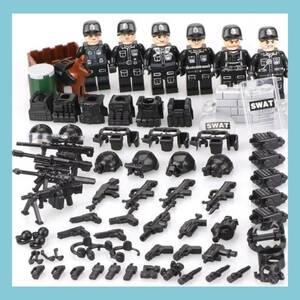 レゴ LEGO 互換 SWAT 特殊部隊 大量武器 ミニフィグ6体セット