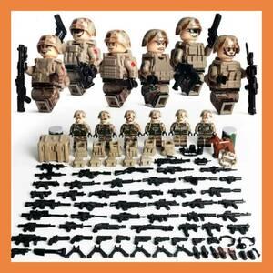 レゴ LEGO 互換 砂漠兵 世界大戦 大量武器 ミニフィグ6体セット