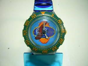 ★スウォッチ スクーバ200 グリーンベゼル Swatch メンズ時計