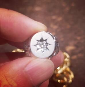 F2140【彫金】美しい天然大粒ダイヤモンド0.10ct 最高級Pt900無垢メンズリング