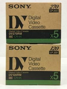 ★☆D055 未開封 SONY DVカセット Digital Video Cassette デジタルビデオカセット DV270RM DV120RM 各5本 10本セット 化粧箱付き☆★