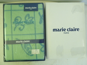B893 未使用 marie claire / マリクレール ひざ掛け 75×130cm グリーン系 日本製