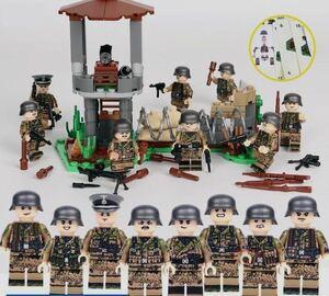 第二次世界大戦 ドイツ 武器つきセット 戦争軍人軍隊マンミニフィグ LEGO 互換 ブロック ミニフィギュア レゴ 互換t08