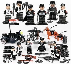 第二次世界大戦 ドイツ軍  武器つきセット 戦争軍人軍隊マンミニフィグ LEGO 互換 ブロック ミニフィギュア レゴ 互換t44