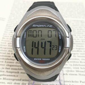 ★SPORTLINE 多機能 デジタル メンズ 腕時計★ スポーツライン アラーム クロノ タイマー 稼動品 F3550
