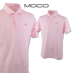 30%OFF【モコ MOCO】メンズ 半袖ポロシャツ M(48) ピンク 212211242-73 ゴルフ カジュアル 日本製 上質素材 おしゃれ @