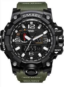SMAELスマイル腕時計 メンズ メンズウォッチ 防水 スポーツ アナログ表示 デジタル クオーツ腕時計 多機能 ミリタリー ライト 運動腕時計