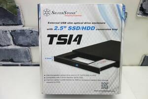 SilverStone 9.5mmスリム光学ドライブ→ 2.5インチ HDD/SSD変換 SST-TS14 未使用品