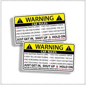 CC311:車 カー 安全 警告 ルール プジョー ジープ ハーレー ビュイック ベントレー スカニア 6008301408用 デカール カード ステッカー